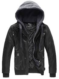 light bike jacket wantdo men u0027s faux leather jacket with removable hood at amazon
