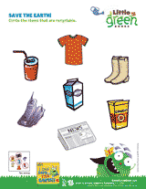 save the earth recyclable items worksheet pre k 1st grade