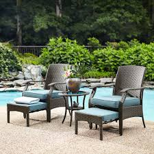 Small Patio Furniture Set by Garden Oasis Banks 5 Piece Seating Set Outdoor Living Patio