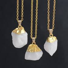 real stone necklace images Water drop real natural stone necklace mineralfeelings jpg