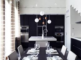 table as kitchen island dining room modern white dining room with solid black table also