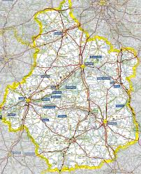 Map Of Brittany France valley map