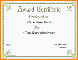 7 award certificate template free nypd resume