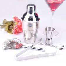 bar adjustable cocktail stainless steel shaker 5 sets 250ml snow