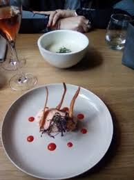 cuisine choux fleur velouté de choux fleur rillette de truite saumonée picture of le