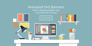 Graphic Designer Desk Flat Design Desk Banners Animated Svg By Dxc Codecanyon