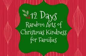 12 days of random acts of kindness joys
