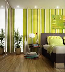 creative painting 3 color stripes on walls for stunning bedroom
