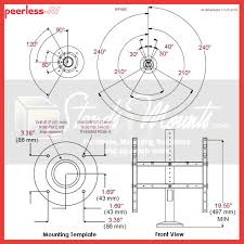 peerless hp455 360 degree vesa desktop swivel mount