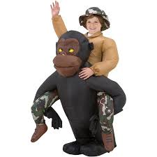 Halloween Costumes Kids Boys Riding Gorilla Kids Inflatable Boys Child Halloween Costume