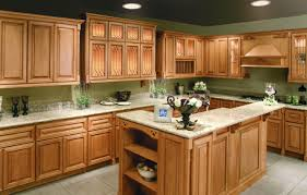 quartz countertops honey oak kitchen cabinets lighting flooring