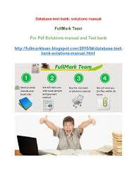database test bank solutions manual databases information