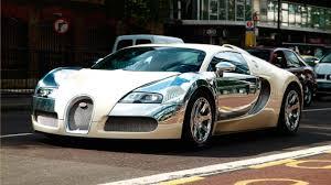 galaxy bugatti bugatti veyron in white and silver chrome front and side view