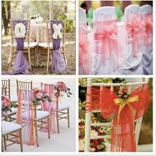 how to make chair sashes colorful organza chair sashes wedding party banquet pearl yarn diy