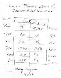 howell electric motor wiring diagram