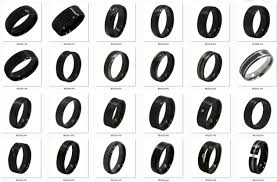 black zirconia rings images Scratch proof domed black zirconium rings buy scratch proof jpg