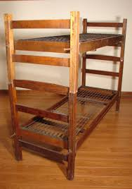 US Military Bunk Beds WWII Made By Heywood Wak  Lot - Vintage bunk beds