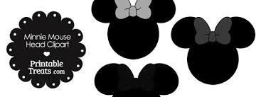 minnie mouse head clipart grey bows u2014 printable treats