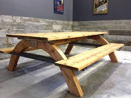 Cheap Picnic Benches Redwood Picnic Table And Benches 72 Long 39 Wide 30 Industrial