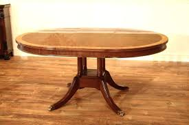 dining room table with leaves single pedestal dining table with leaf oval double leaves