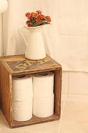 old crates for bathroom for the home pinterest toilet paper