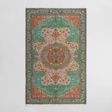 Orange Area Rug With White Swirls Area Rugs Affordable Large Rugs World Market