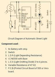 auto street light switch using ldr and ic 555 5 steps