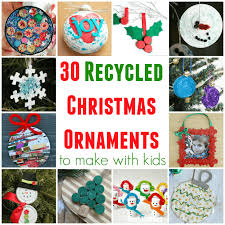 recycled ornaments to make with littles