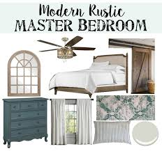Master Bedroom Plan Modern Rustic Master Bedroom Design Plan