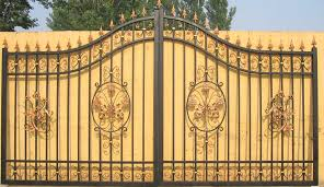 backyards bright wrought iron gates and fences design