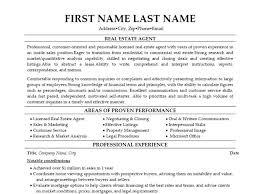 Real Estate Salesperson Resume Real Estate Agent Resume Objective Vinodomia