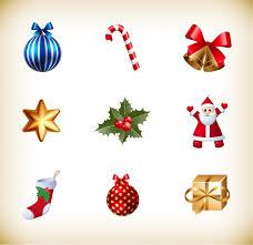 small christmas christmas small icon vector collection free vector graphics