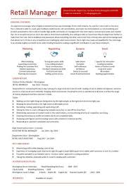 Retail Area Manager Resume Retail Manager Cv Template And Management Resume Examples Also