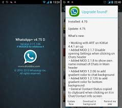 watsapp apk file whatsapp plus whatsapp v4 75 apk file features