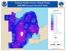 Michigan Weather Map Seasonal Snow