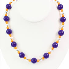 orange beaded necklace images Florida gators orange and blue beaded necklace gator shop jpg