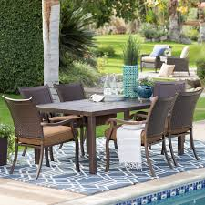 Metal Patio Dining Sets - hanover lavallette steel dining set patio dining sets at hayneedle