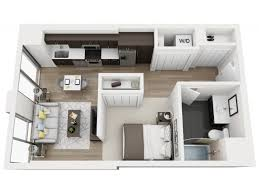 Studio Floor Plans Studio 1 Bath Apartment In Chicago Il Halsted Flats