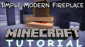 how to make a simple modern fireplace in minecraft youtube