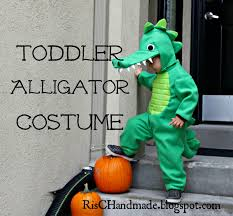 risc handmade toddler alligator costume