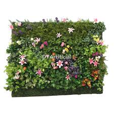 Silk Flower Plants - 2x1m artificial silk plants flowers wall with planter dongyi