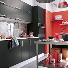 cuisine delice meuble de cuisine noir delinia délice leroy merlin