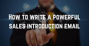 how to write a sales introduction email righthello