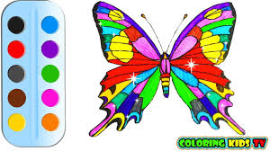 coloring pages butterfly for kids u0026 drawing for children how to