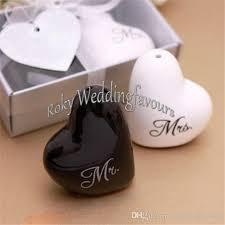 engagement party favors and groom salt and pepper shaker wedding favours engagement
