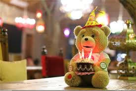 happy birthday singing teddy online shop 20 50cm sitting height talking teddy with moving