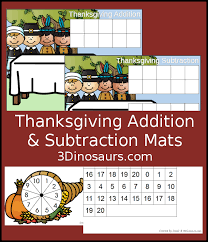 easy thanksgiving math with addition subtraction 3 dinosaurs
