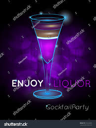 martini purple purple layered exotic cocktail tall glass stock vector 610164620