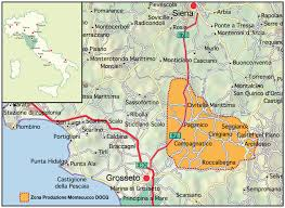 Tuscany Map Montecucco Newcomer With Style With Two Heavy Weight Neighbours