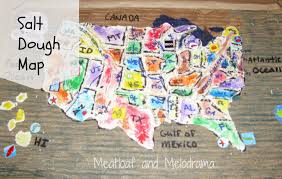 Map Of Usa For Kids by Salt Dough Maps Meatloaf And Melodrama